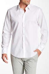 Zachary Prell Solid Long Sleeve Trim Fit Shirt White
