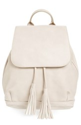 Bp. Tassel Flap Faux Leather Backpack