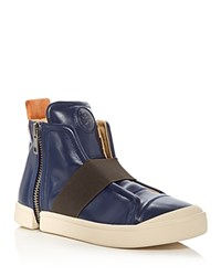 Diesel S Nentish High Top Strap Sneakers Blue