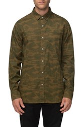 Tavik Men's 'Porter' Print Woven Shirt Fatigue Camo