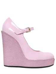 Hogan 120Mm Mary Jane Patent Leather Wedges