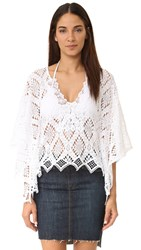 Temptation Positano Long Sleeve Lace Tunic White