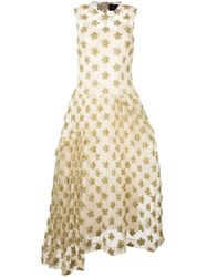 Simone Rocha Embellished Sheer Layer Dress Nude And Neutrals