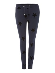 Zoe Karssen Slim Fit Star Print Jogger Navy