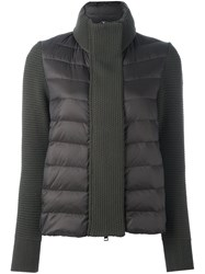 Moncler Padded Knitted Cardigan Green