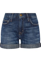 Current Elliott The Boyfriend Denim Shorts Mid Denim