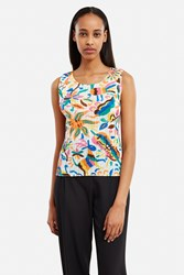Issey Miyake Exclusively For Opening Ceremony Sleeveless Top Vivid
