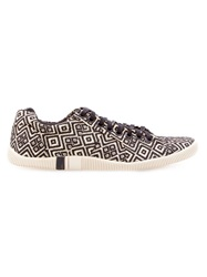 Osklen Geometric Pattern Sneakers Nude And Neutrals