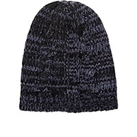 The Elder Statesman Women's Quattro Beanie Black Blue Black Blue