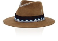 Nick Fouquet Men's The Guerra Fur Felt Fedora Brown Tan Brown Tan