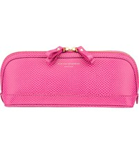 Aspinal Of London Hepburn Medium Leather Cosmetics Case Pink