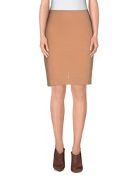 Pf Paola Frani Knee Length Skirts Salmon Pink