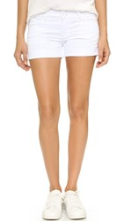 Hudson Croxley Mid Thigh Shorts White 2