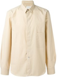 Christophe Lemaire Lemaire Patch Pocket Shirt Nude And Neutrals