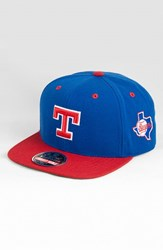 Men's American Needle 'Texas Rangers Blockhead' Snapback Baseball Cap Blue