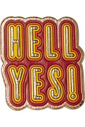 Anya Hindmarch Hell Yes Metallic Textured Leather Sticker