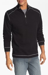 Men's Big And Tall Cutter And Buck Regular Fit Quarter Zip Sweater Black