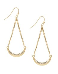 Bcbgeneration Single Crystal Sweep Trapeze Earrings Gold