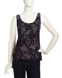 Pjk Oasis Scoop Back Burnout Tank Xs
