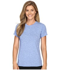 Brooks Distance Short Sleeve Top Heather Wave Women's Short Sleeve Pullover Blue