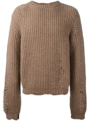 J.W.Anderson J.W. Anderson Distressed Jumper Brown