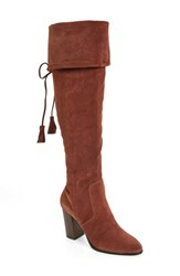 M4d3 Footwear Women's 'Rafalle' Over The Knee Boot Chocolate Suede