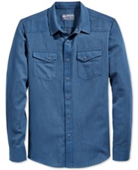 American Rag Men's Brian Solid Long Sleeve Shirt Only At Macy's Blue Wash