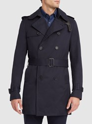 Sandro Navy Magnetic Raincoat Blue