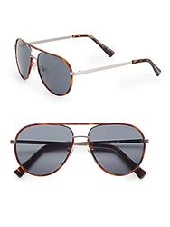Cole Haan 57Mm Aviator Sunglasses Gunmetal Tortoise