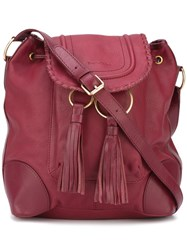 See By Chloe 'Polly' Bucket Shoulder Bag Red