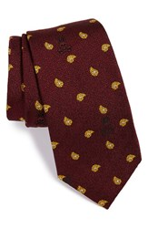 Men's Psycho Bunny Paisley Silk And Wool Tie