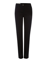 Mary Portas Straight Leg High Waist Jeans Black