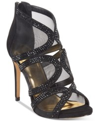 Thalia Sodi Fabiaa Mesh Caged Evening Sandals Only At Macy's Women's Shoes Black