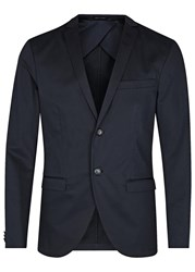 Tiger Of Sweden Jil Navy Stretch Cotton Blazer