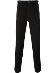 Versace Medusa Button Casual Trousers Black