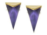 Alexis Bittar Faceted Pyramid Post Earrings Orchid Haze Earring Bronze