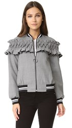 Mother Of Pearl Ezra Bomber Jacket Houndstooth
