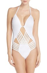 Women's Kenneth Cole New York 'Stompin' Push Up One Piece Swimsuit