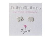 Dogeared Little Things Elephant Silver Earring