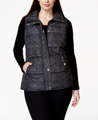 Styleandco. Style And Co. Sport Plus Size Printed Vest
