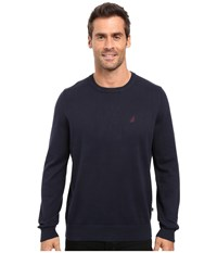 Nautica Solid Crew Neck Sweater Navy Men's Sweater