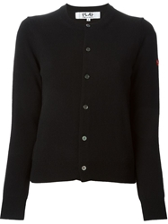 Comme Des Garcons Play Buttoned Cardigan Black