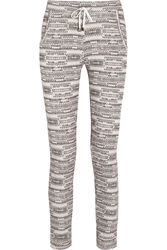 Lot78 Printed Cotton Jersey Track Pants