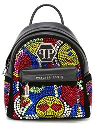 Philipp Plein Extra Small 'Trippy' Backpack Black