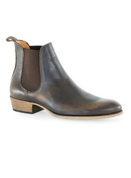 Topman Tan Leather Chelsea Boots Brown