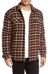 Gramicci Men's Campfire Fleece Lined Shirt Jacket With Faux Shearling
