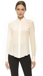 Prabal Gurung Long Sleeve Blouse Ivory