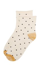 Madewell Small Dot Ankle Mid Socks Antique Cream