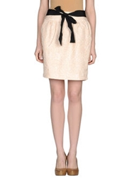 Darling Knee Length Skirts Beige