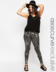 Asos Curve Legging In Abstract Animal Print Multi